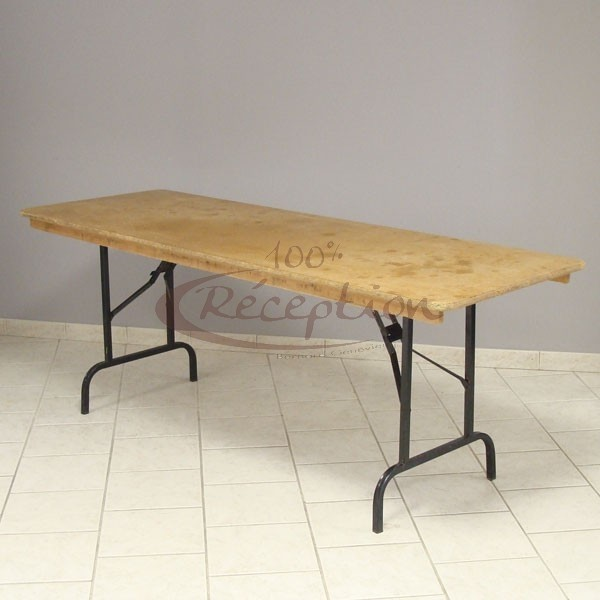 Location table rectangle 8 personnes 100 r ception for Table 8 personnes